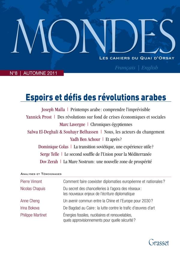 Mondes nº8 Les cahiers du Quai d'Orsay