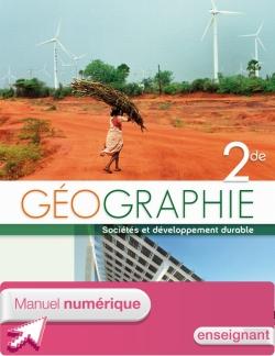 Manuel numérique Géographie Seconde Licence enseignant