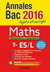 Annales 2016 Maths T ES L