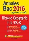 Annales 2016 Histoire-Géo Terms L/Es/S
