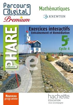 Parcours digital Premium Phare mathématiques cycle 4 / 5e - éd. 2016 - Licence enseignant