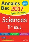 Annales Bac 2017 - Sciences 1ères L/ES