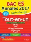 Annales Bac 2017 Tout-en-un Term ES