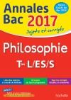 Annales Bac 2017 Philosophie Term L, ES, S