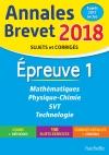 Annales Brevet  2018 Maths, physique-chimie, SVT et technologie 3ème
