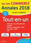 Annales Bac - 2018 Le Tout-En-Un Bac Pro Commerce