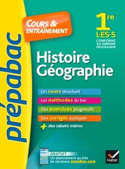 Histoire-G�ographie 1re L, ES, S - Pr�pabac Cours & entra�nement