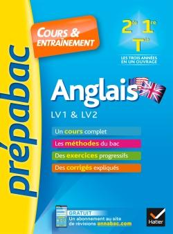 Anglais 2de, 1re, Tle toutes s�ries, LV1 & LV2 - Pr�pabac Cours & entra�nement