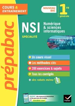 Num�rique et sciences informatiques 1re (sp�cialit�) - Pr�pabac Cours & entra�nement