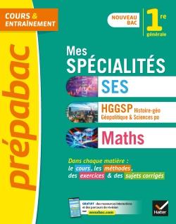 Mes sp�cialit�s SES, HGGSP, Maths 1re