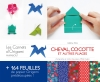 carnet origami Cheval, cocotte