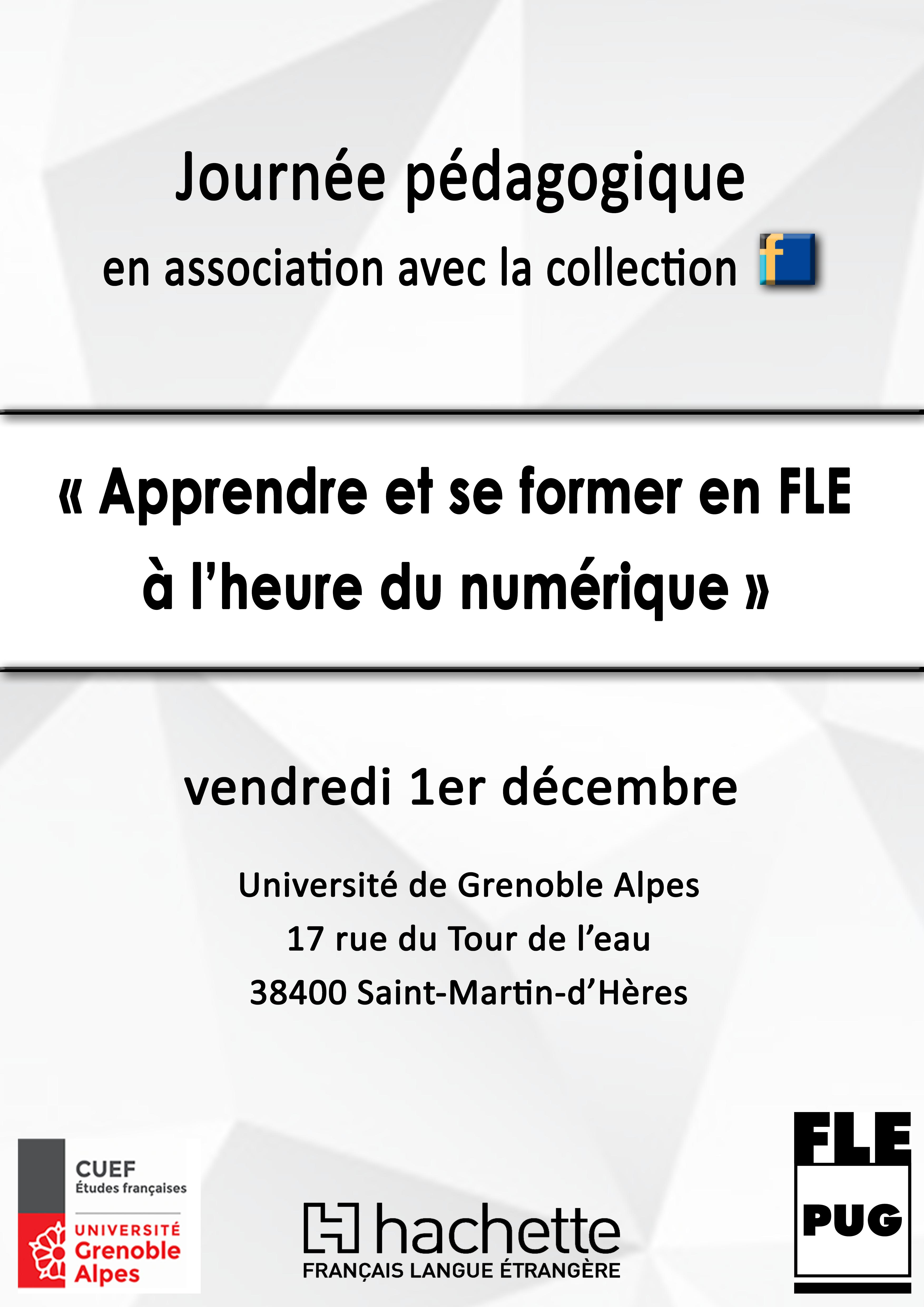Journée pédagogique du vendredi 1er décembre à Grenoble