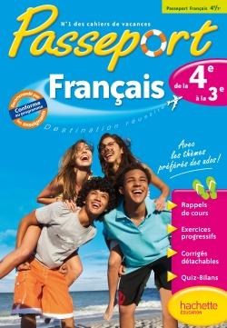 Passeport Cahier de vacances - Français de la 4e à la 3e