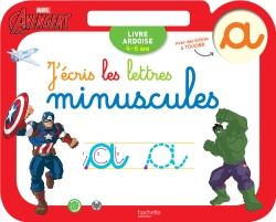 Ardoise Avengers J'écris les lettres minuscules
