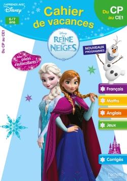 Cahier de vacances la Reine des Neiges du CP au CE1