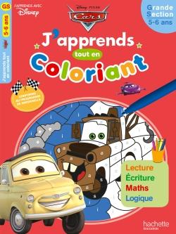 Cars J'apprends tout en coloriant GS
