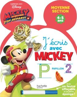 Ardoise J'écris avec Mickey Top départ MS