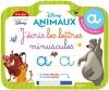 Disney animaux Ardoise J'écris les lettres minuscules (4-6 ans)