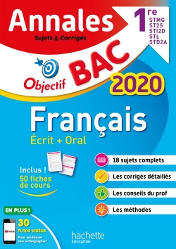 Annales Bac 2020 Français 1ères Techno