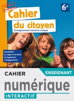 Version numérique enseignant Cahier du citoyen 6e -  éd. 2019