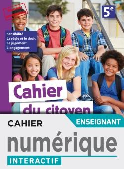 Version numérique enseignant Cahier du citoyen 5e - éd. 2019