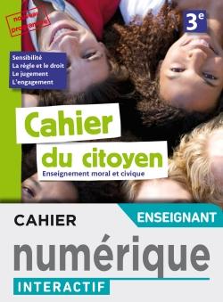 Version numérique enseignant Cahier du citoyen 3e - éd. 2019