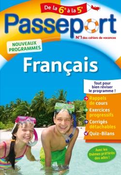 Passeport Cahier de vacances - Français de la 6e à la 5e