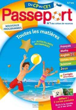 Passeport Cahier de Vacances 2019 - Toutes les matières du CP au CE1 - 6/7 ans
