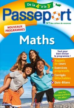 Passeport Cahier de vacances 2019 - Maths de la 4e à la 3e