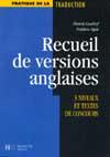 Recueil de versions anglaises