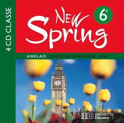 New Spring 6e LV1 - Anglais - 4 CD audio classe - Edition 2006