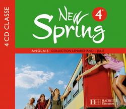 New Spring 4e LV1 - Anglais - 4 CD audio classe - Edition 2008