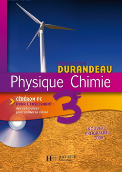 Physique Chimie 3e - Cédérom enseignant - Edition 2008