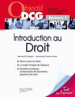 Objectif DCG - Introduction au droit