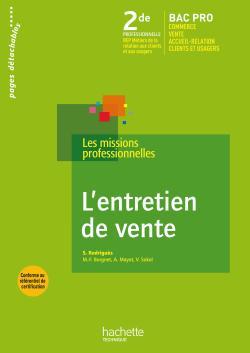 L'entretien de vente 2de Bac Pro - Livre élève - Ed.2009