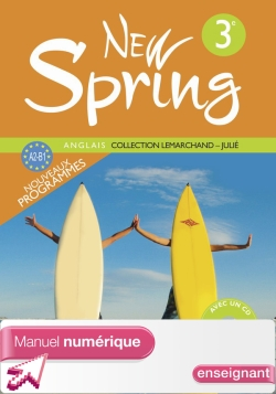 Manuel numérique enseignant New Spring 3e - Anglais - Edition 2009