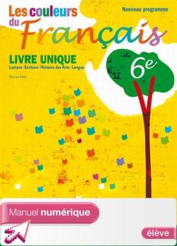 Manuel numérique Les couleurs du Français 6e - Licence élève - Edition 2009