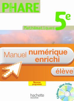 Manuel numérique Phare Mathématiques 5e - Licence élève - Edition 2010