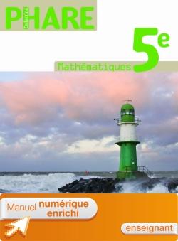 Manuel numérique Phare Mathématiques 5e - Licence enseignant - Edition 2010