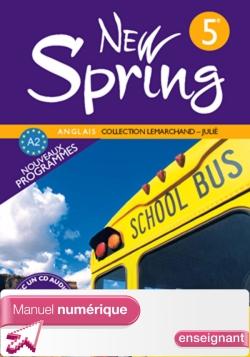 Manuel numérique enseignant New Spring 5e - Anglais - Edition 2007