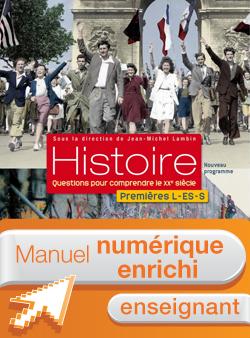 Manuel numérique Histoire 1res ES/L/S (Lambin) - Licence enseignant simple - Edition 2011