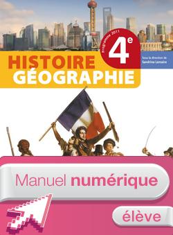 Manuel numérique Histoire-Géographie 4ème - Licence élève - Edition 2011