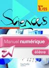 Manuel numérique Sciences 1re ES/L Edition 2011 - Licence Elève