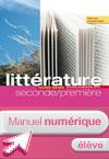 Manuel numérique Littérature 2de 1re L'écume des lettres Edition 2011 - Licence élève