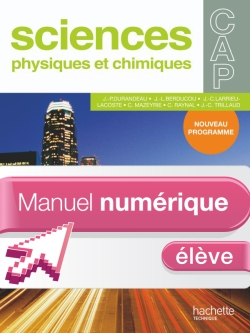 Sciences Physiques CAP - Manuel numérique - Licence élève - Ed.2010