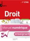 Enjeux et Repères Droit 1re STMG - Manuel numérique - Licence enseignant simple - Ed. 2012