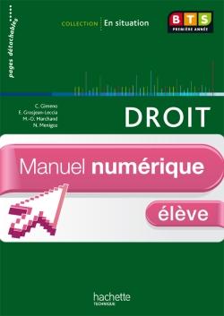 En situation Droit BTS 1re année - Manuel numérique - Licence élève - Ed. 2012