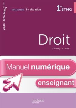 En situation Droit 1re STMG - Manuel numérique - Licence enseignant simple - Ed. 2012