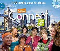 New Connect 4e / Palier 2 Année 1- Anglais - CD audio classe - Edition 2013