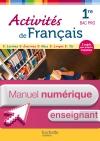 Activités de Français 1re Bac Pro - Manuel numérique enseignant simple - Ed. 2013